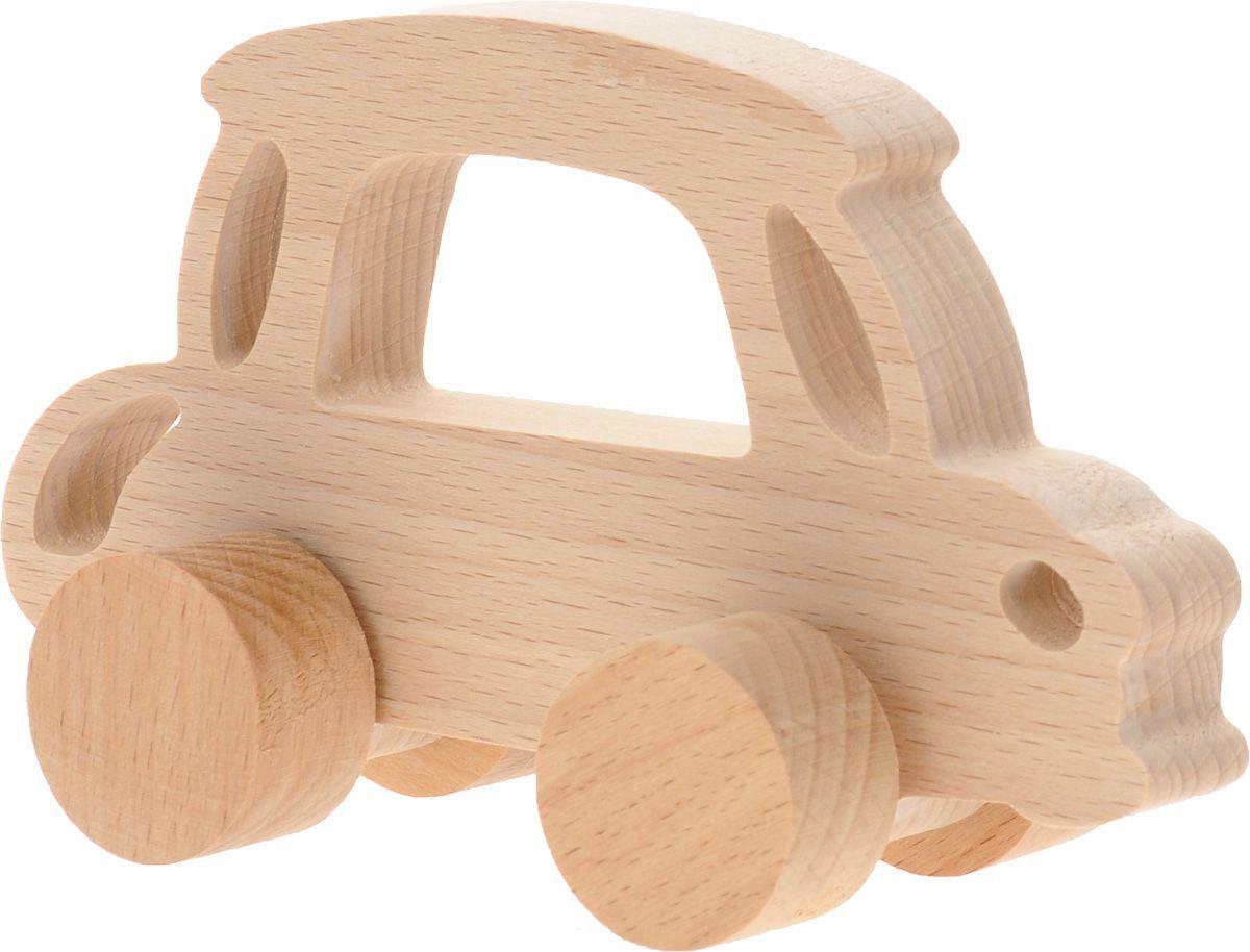 Волшебный городок Игрушка-каталка АвтомобильКДБДеревянная игрушка-каталка Волшебный городок Автомобиль развивает моторику ребенка, логику, пространственное мышление, зрительное восприятие и внимание малыша. Игрушка выполнена из высококачественного дерева, что абсолютно исключает вероятность травмирования. Понравится каждому малышу и станет хорошим подарком.