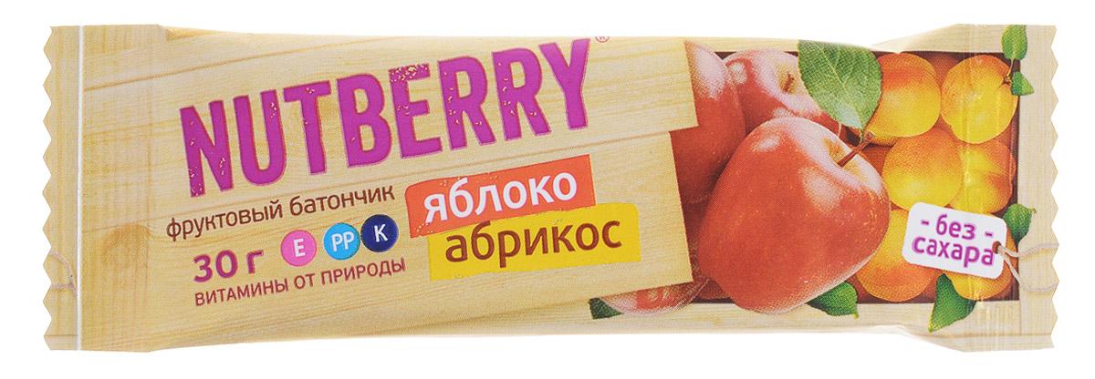 Nutberry Витафрут батончик фруктовый с яблоком и абрикосом, 30 г 4620000678014