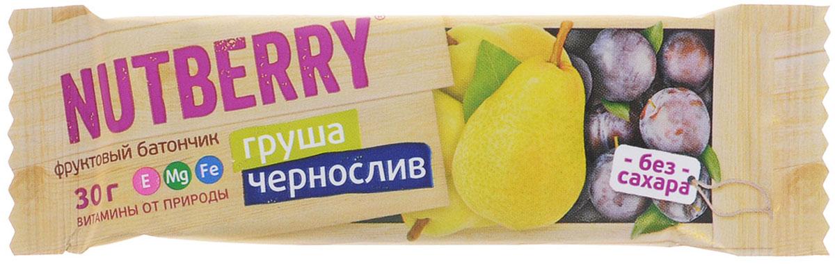 Nutberry Витафрут батончик фруктовый с грушей и черносливом, 30 г 4620000677994