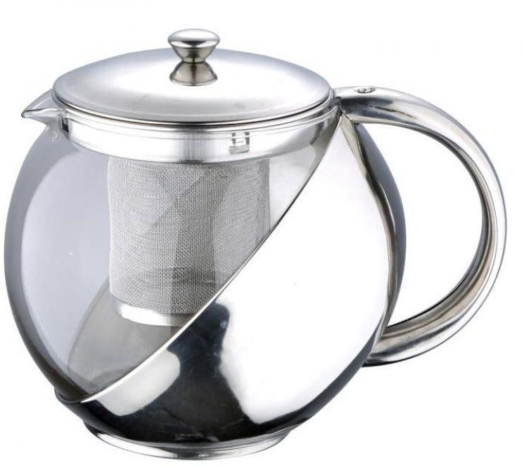 Чайник заварочный Wellberg, 1000 мл, стеклянная колба6876 WB