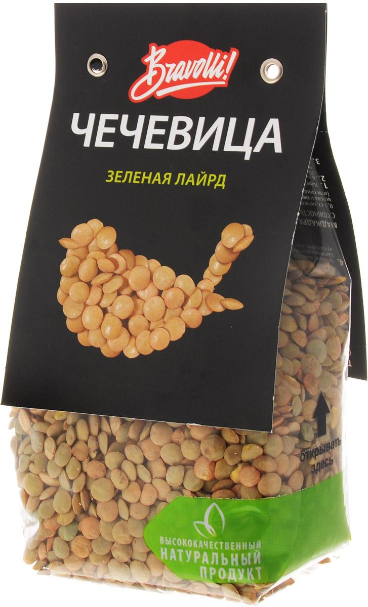 Bravolli Чечевица зеленая Лайрд, 350 гБР 87/6Чечевица Bravolli Лайрд- крупная зеленая чечевица с насыщенным мягким вкусом, которая отлично сохраняет свою форму после приготовления. Она широко известна, особенно в странах Средиземноморья, и используется во многих кухнях мира. Лайрд хороша для любых блюд - салатов, гарниров, мясных, овощных блюд и супов, например, для известного марокканского супа Харира. Чечевица Лайрд богата белком и пищевыми волокнами. При регулярном применении она помогает держать вес под контролем. Прекрасно подходит для диетического питания - не содержит лактозу, имеет низкий гликемический индекс.