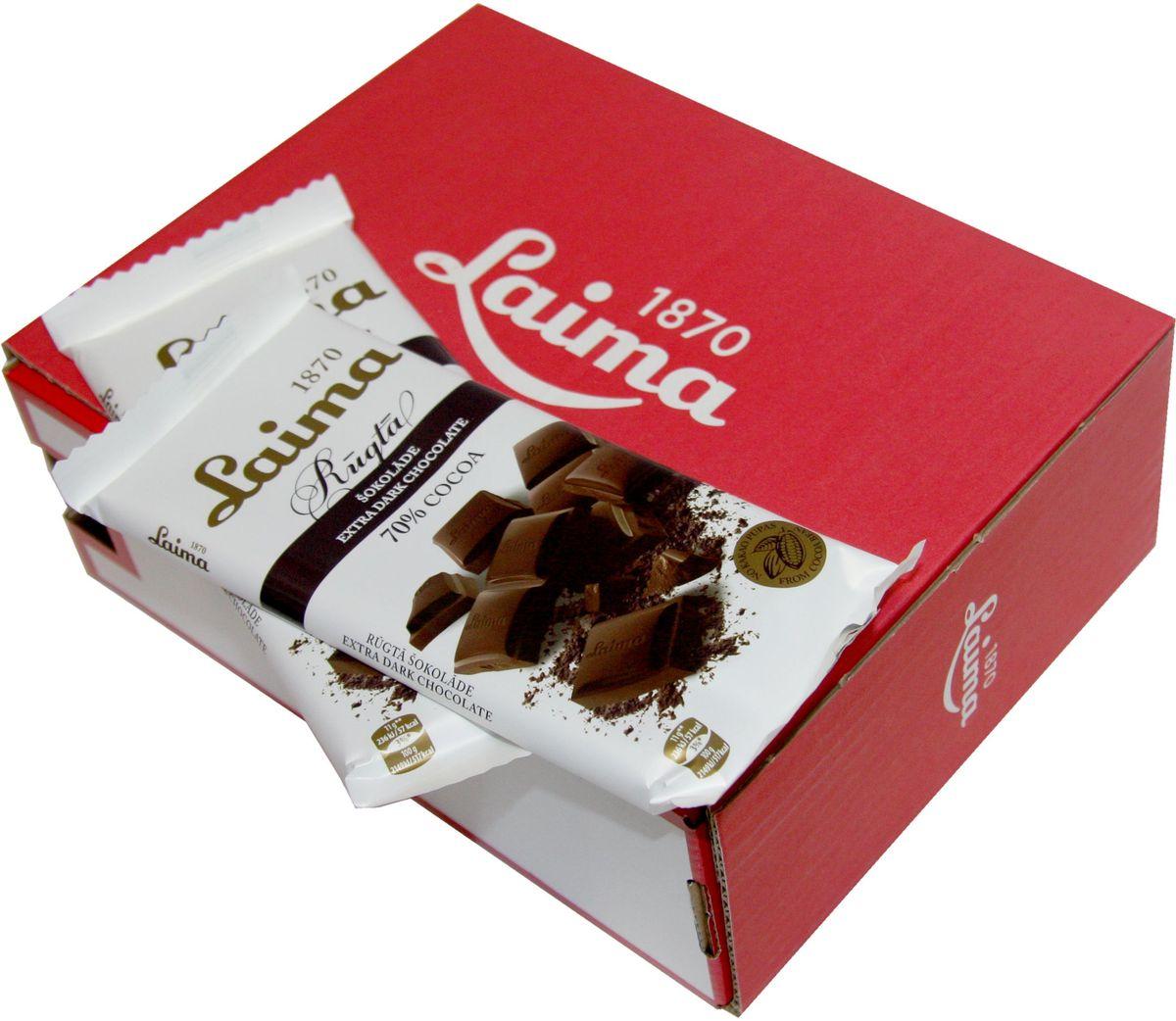Laima Горький шоколад 70%, 100 гP120504511Классический горький шоколад .Содержание какао 70%