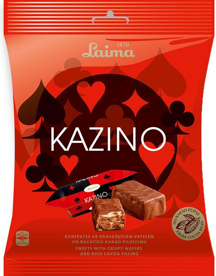Laima Казино глазированные вафельные конфеты с начинкой какао, 160 гP110812415Глазированные вафельные конфеты с начинкой какао Казино