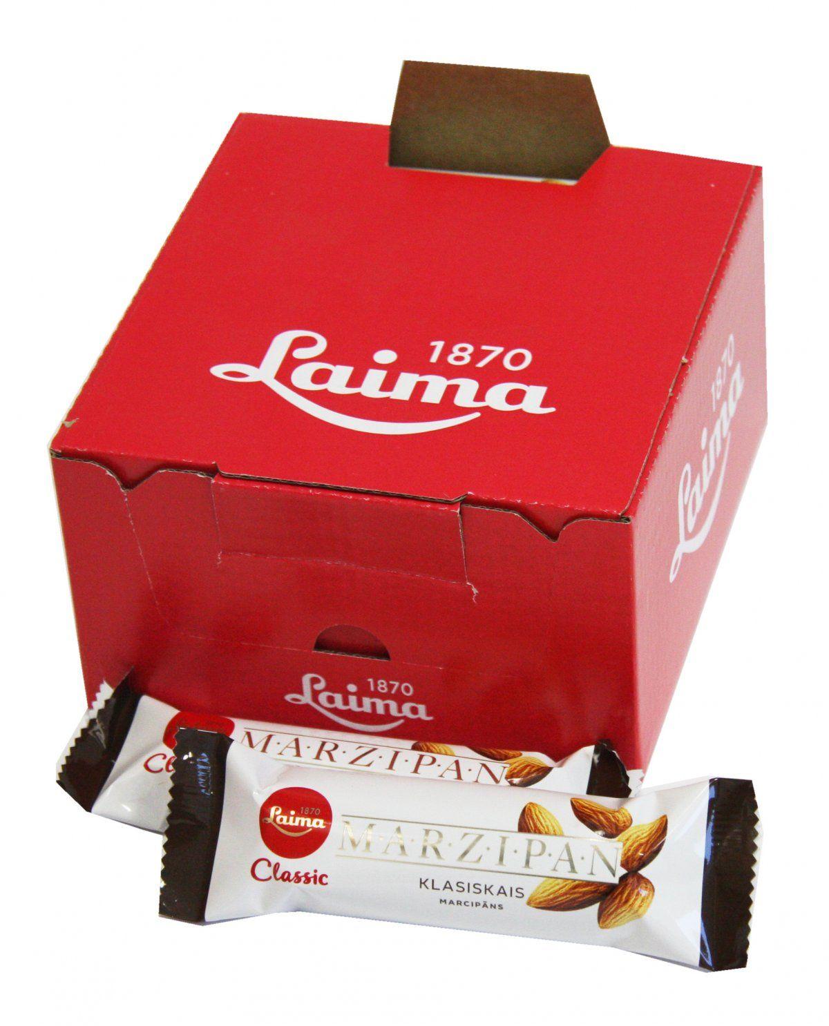 Laima Конфета марципановая шоколадный батончик, 40 г4750001950014Марципановая конфета.Содержание миндаля по европейским стандартам.Только миндаль!!!В темном шоколаде
