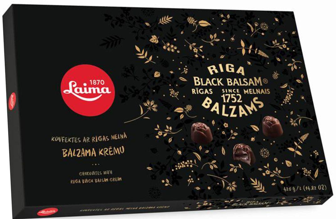 Laima С Рижским бальзамом Набор конфет в темном шоколаде, 420 г