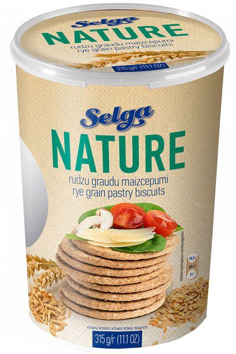 Selga Nature Ржаное хлебное печенье, 315 гP310210002Хлебное печенье из ржаной муки.