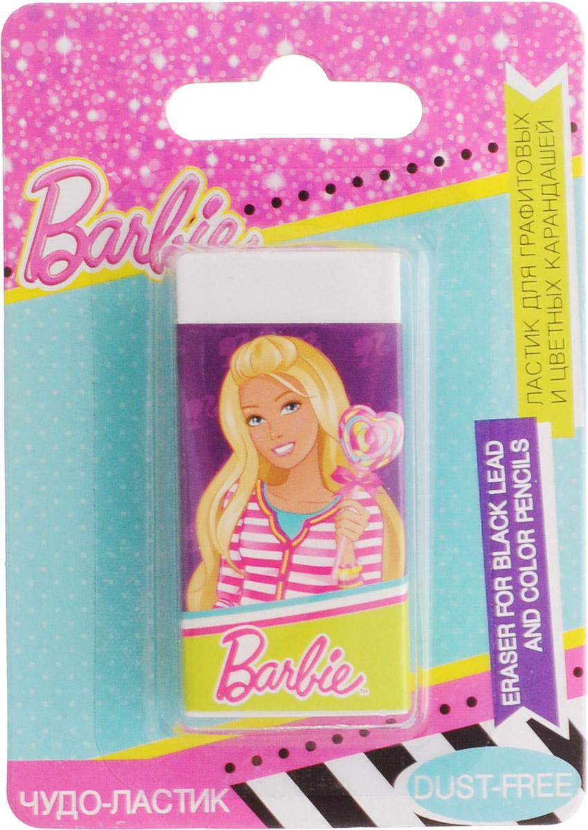 Barbie ЛастикBRCB-US1-215-BL1Ластик для графитовых и цветных карандашей Barbie станет незаменимым атрибутом в учебе любой юной школьницы. Ластик выполнен из качественной резины и оформлен изображением очаровательной куклы Barbie. Не рекомендуется детям до 3-х лет.