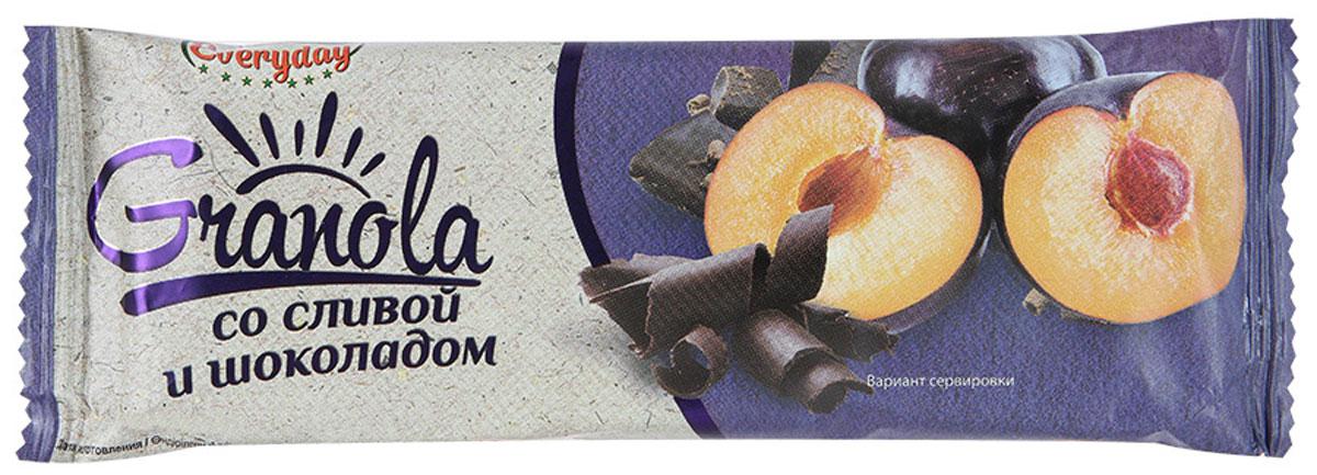 Everyday батончик-мюсли со сливой и шоколадом, 50 гбйф004Батончик-мюсли Everyday - вкусный завтрак или перекус для каждого члена семьи! Уважаемые клиенты! Обращаем ваше внимание, что полный перечень состава продукта представлен на дополнительном изображении.