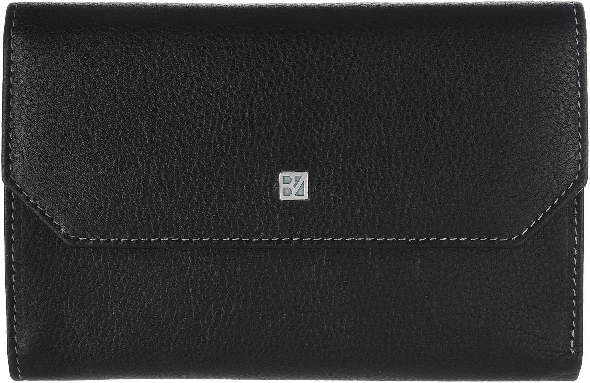 Кошелек женский Bodenschatz, цвет: черный. 8-9808-980 blackЖенский кошелек Bodenschatz выполнен из натуральной высококачественной кожи. Изделие закрывается клапаном на застежку-кнопку. Внутри располагаются два отделение для купюр, двенадцать кармашков для пластиковых карт, три скрытых кармашка, карман для мелочи на металлической кнопке, снаружи на задней стенке - карман для бумаг.