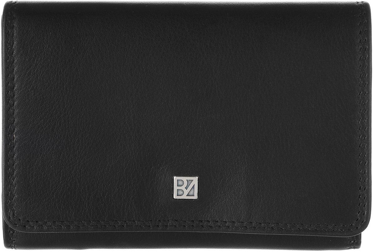 Кошелек женский Bodenschatz, цвет: черный. 8-8458-845 blackЖенский кошелек Bodenschatz выполнен из натуральной высококачественной кожи. Изделие закрывается клапаном на застежку-кнопку. Внутри располагаются два кармана, карман для мелочи, два отделения для купюр, снаружи на задней стенке - маленький кармашек.