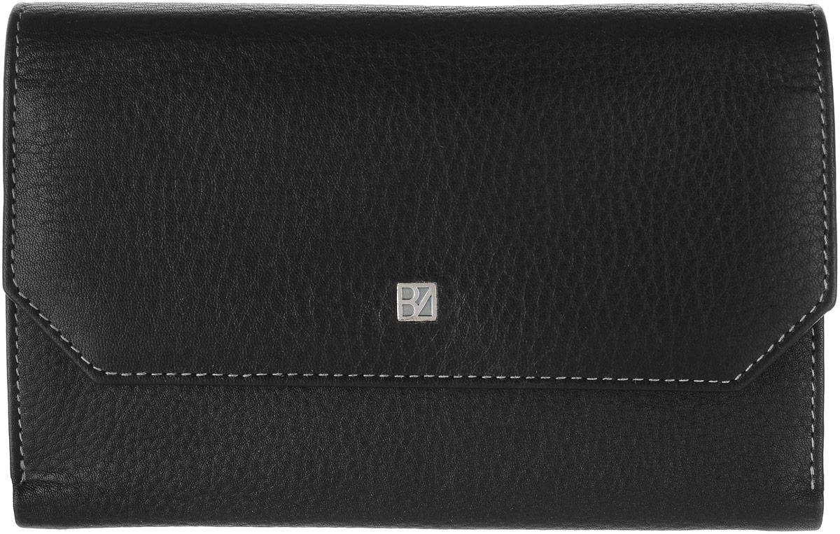 Кошелек женский Bodenschatz, цвет: черный. 8-9828-982 blackЖенский кошелек Bodenschatz выполнен из натуральной высококачественной кожи. Изделие закрывается клапаном на застежку-кнопку. Внутри располагаются отделение для купюр, отделение для мелочи на молнии, пять потайных кармашков, десять кармашков для пластиковых карт, снаружи на задней стенке карман для бумаг.