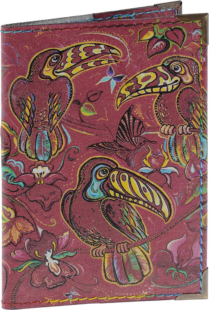 Обложка для паспорта BORЯN Тропические птицы, цвет: красный. Авторская работа. BR519BR519Высокое качество, стиль, авторский подход, новаторские технологии, делают аксессуары BORЯN безупречными. Никакого «хендмейда» в привычном понимании. Ручная работа - показатель внимания к деталям и безупречного исполнения. Ассортимент марки производится вручную в Москве в нашей мастерской. Все сюжеты придуманы и воплощены художниками BORЯN ®. Стильные, яркие, из натуральной, высококачественной кожи, обложки для документов BORЯN подчеркнут ваш неповторимый стиль и прекрасно защитят документы. Наша обложка - Ваш безупречный аксессуар! Сделано в России!