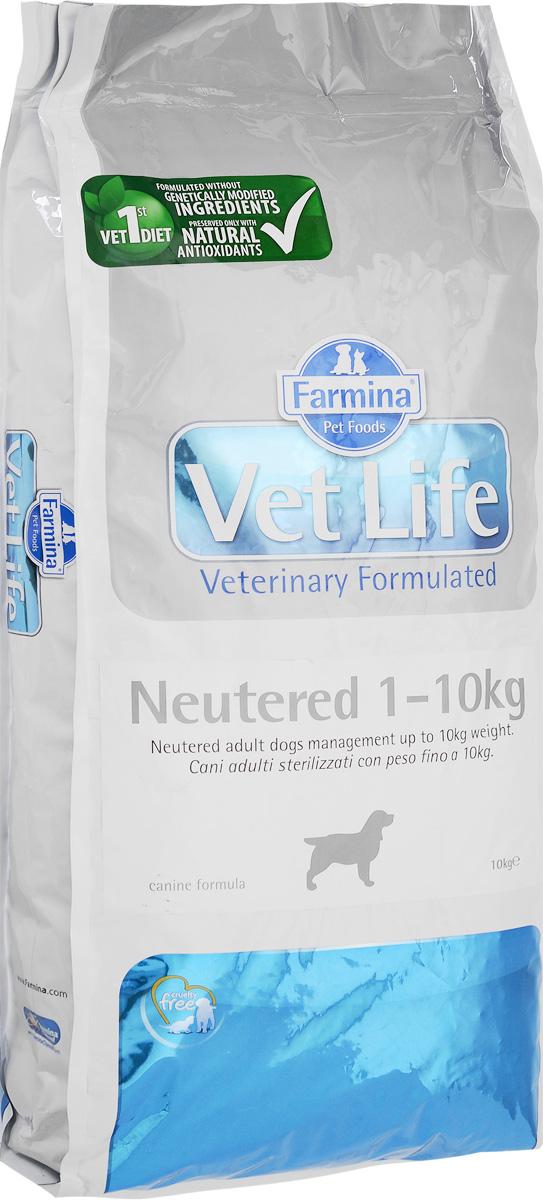 Корм сухой Farmina Vet Life для взрослых кастрированных или стерилизованных собак весом до 10 кг, диетический, 10 кг24787Корм сухой Farmina Vet Life - полноценное и сбалансированное питание для взрослых кастрированных или стерилизованных собак весом до 10 кг для контроля веса и профилактики развития мочекаменной болезни. Рацион с низким содержанием жира и высоким содержанием белка обеспечивает поддержание оптимальной массы тела. L-карнитин стимулирует окисление жиров и преобразование их в энергию. Низкое содержание углеводов снижает вероятность развития диабета. Сульфат кальция способствует контролю pH мочи и снижает риск развития мочекаменной болезни. Рекомендации по кормлению: использовать по назначению ветеринарного врача. Товар сертифицирован.