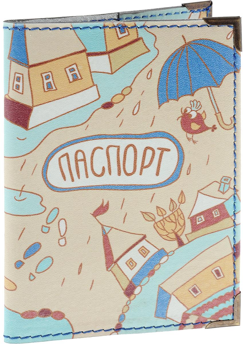 Обложка для паспорта BORЯN Дождик, цвет: бежевый, голубой. Авторская работа. BR524BR524Высокое качество, стиль, авторский подход, новаторские технологии, делают аксессуары BORЯN безупречными. Никакого «хендмейда» в привычном понимании. Ручная работа - показатель внимания к деталям и безупречного исполнения. Ассортимент марки производится вручную в Москве в нашей мастерской. Все сюжеты придуманы и воплощены художниками BORЯN ®. Стильные, яркие, из натуральной, высококачественной кожи, обложки для документов BORЯN подчеркнут ваш неповторимый стиль и прекрасно защитят документы. Наша обложка - Ваш безупречный аксессуар! Сделано в России!
