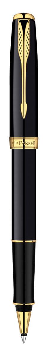 Parker Ручка-роллер Sonnet Black GTPARKER-S0808720Ручка-роллер Parker Sonnet Black GT - идеальный инструмент для письма. Материал ручки - ювелирная латунь с покрытием лаком черного цвета, в отделке применяется позолота 23К. В ручке используются стандартные стержни-роллеры Parker, в комплект поставки входит один стержень черного цвета. Данный пишущий инструмент поставляется в фирменной подарочной коробке премиум-класса, что делает его превосходным подарком. В комплекте также идет гарантийный талон с международной гарантией на 2 года. Произведено во Франции.