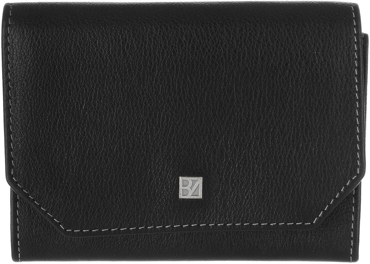 Кошелек женский Bodenschatz, цвет: черный. 8-9588-958 blackЖенский кошелек Bodenschatz выполнен из натуральной высококачественной кожи. Изделие закрывается клапаном на застежку-кнопку. Внутри располагаются два кармана, карман для мелочи, два отделения для купюр, снаружи на задней стенке - маленький кармашек.