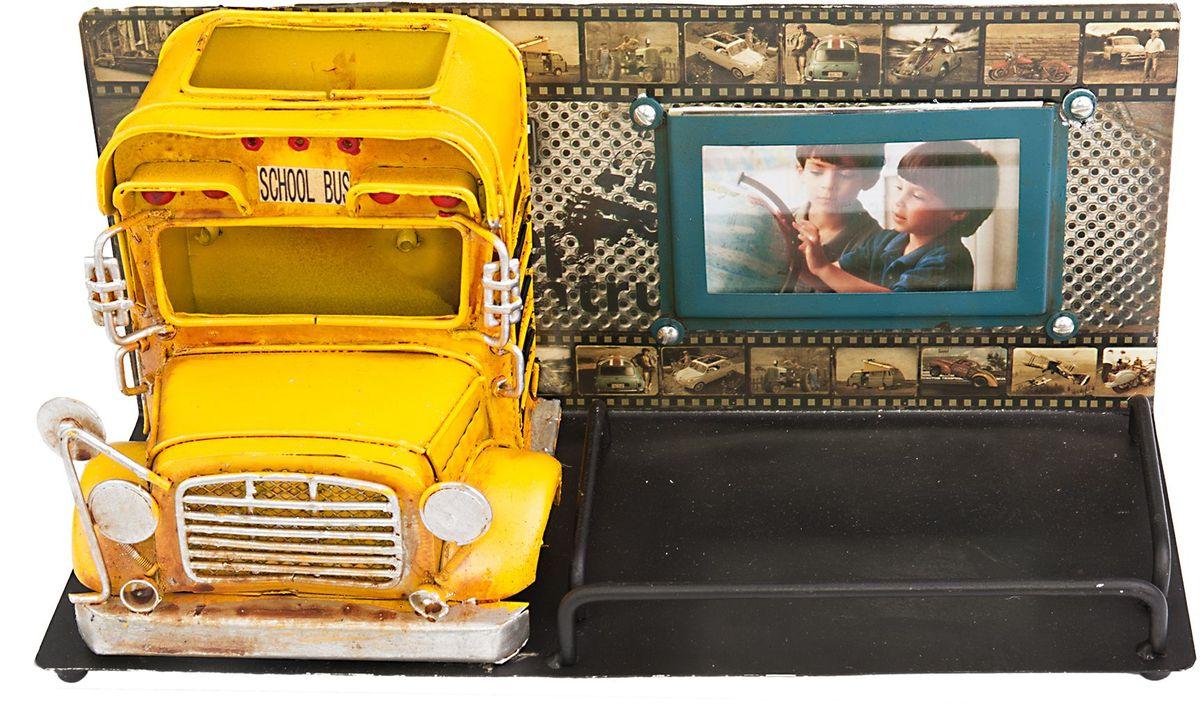 Фоторамка Platinum Школьный автобус, с подставкой для ручек, цвет: желтый. 1410E-47821410E-4782