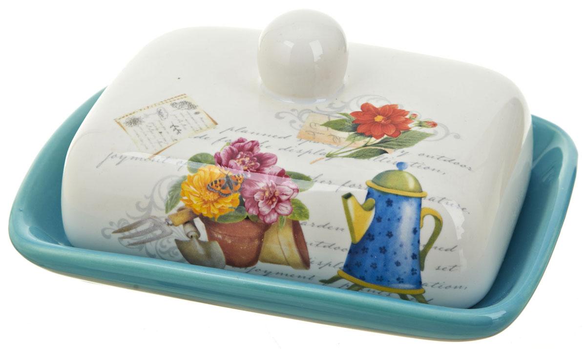 Масленка ENS Group Сад. 06600360660036Масленка Сад, изготовленная из керамики, предназначена для красивой сервировки и хранения масла. Она состоит из крышки с удобной ручкой и подноса. Масло в ней долго остается свежим, а при хранении в холодильнике не впитывает посторонние запахи. Гладкая поверхность обеспечивает легкую чистку. Можно мыть в посудомоечной машине.