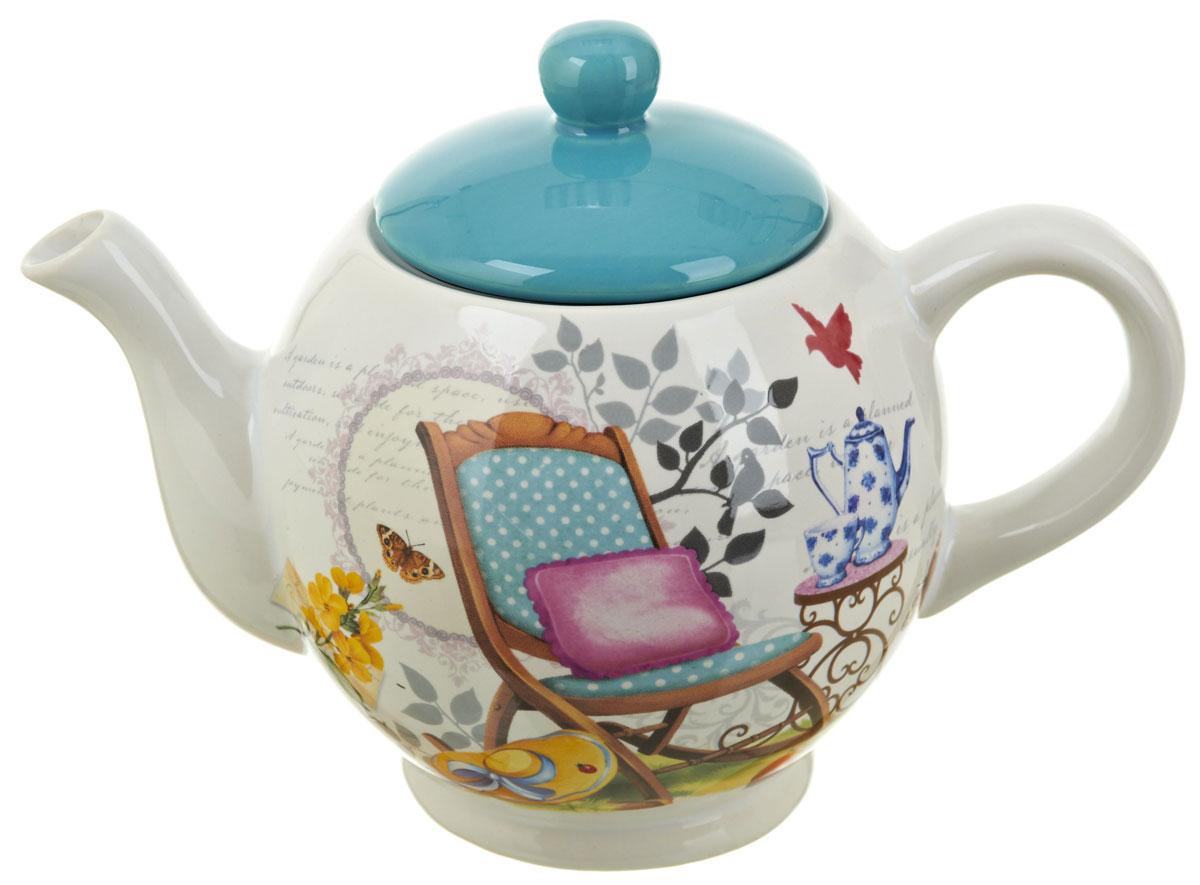 Чайник заварочный ENS Group Сад, 1100 мл. 06600430660043Заварочный чайник Сад, изготовленный из высококачественной керамики, прекрасно впишется в интерьер вашей кухни и станет достойным дополнением к кухонному инвентарю. Изделие снабжено эргономичной крышкой и удобной ручкой. Такой чайник не только украсит ваш кухонный стол и подчеркнет прекрасный вкус хозяйки, но и станет отличным подарком