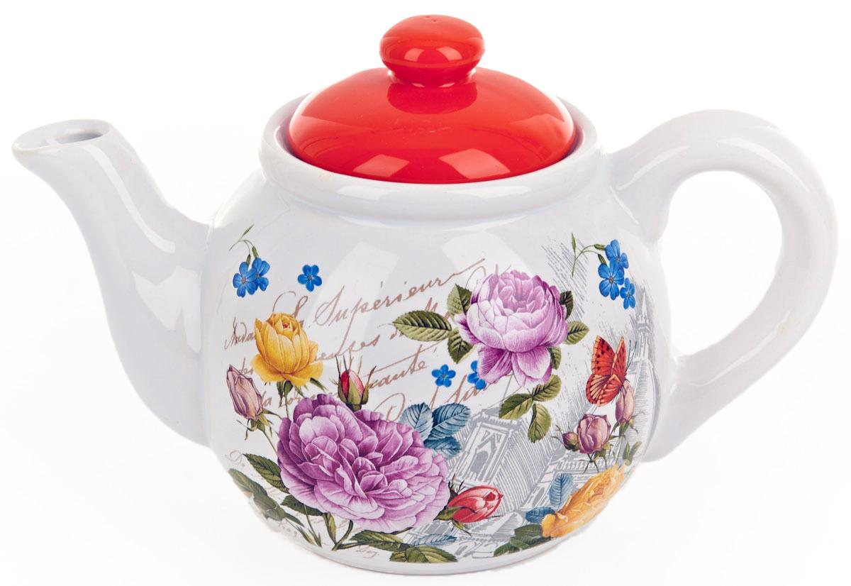 Чайник заварочный ENS Group Лето в Европе, 1 л0660072Заварочный чайник Лето в Европе, изготовленный из высококачественной керамики, прекрасно впишется в интерьер вашей кухни и станет достойным дополнением к кухонному инвентарю. Изделие снабжено эргономичной крышкой и удобной ручкой. Такой чайник не только украсит ваш кухонный стол и подчеркнет прекрасный вкус хозяйки, но и станет отличным подарком. Можно мыть в посудомоечной машине.