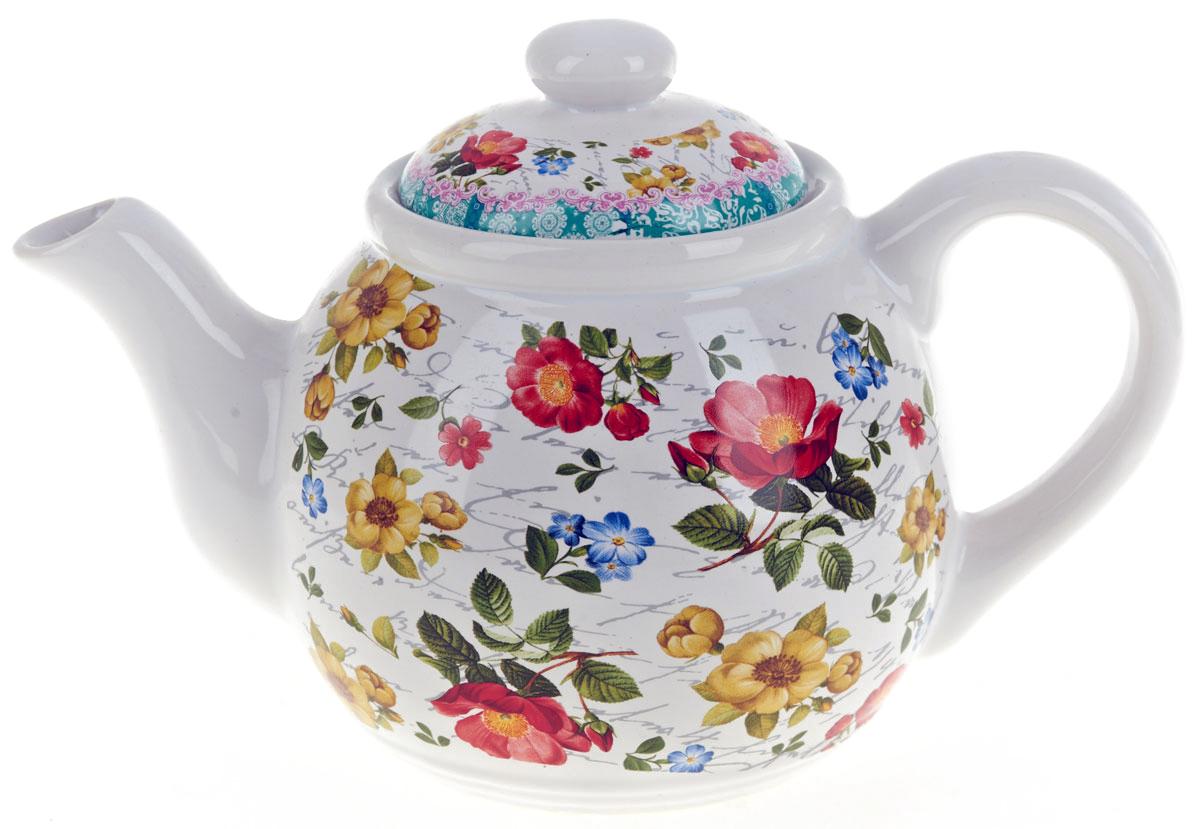 Чайник заварочный ENS Group Цветочная поэма, 1000 мл. 06601040660104Заварочный чайник Цветочная поэма, изготовленный из высококачественной керамики, прекрасно впишется в интерьер вашей кухни и станет достойным дополнением к кухонному инвентарю. Изделие снабжено эргономичной крышкой и удобной ручкой. Такой чайник не только украсит ваш кухонный стол и подчеркнет прекрасный вкус хозяйки, но и станет отличным подарком