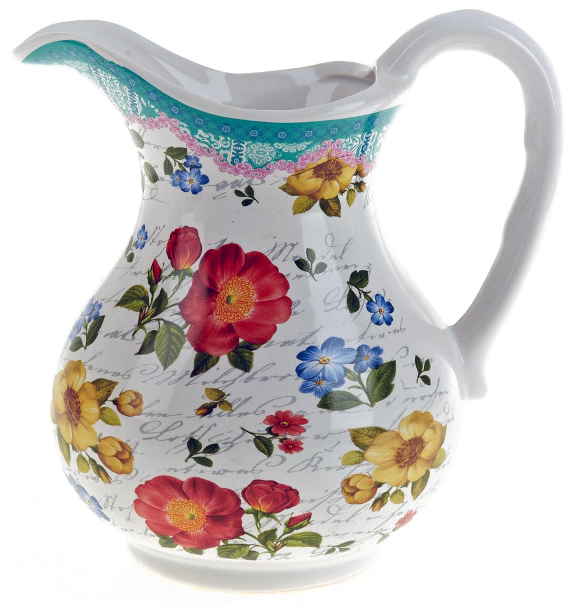 Кувшин ENS Group Цветочная поэма, 1 л0660105Кувшин Цветочная поэма изготовлен из высококачественной керамики с изящным рисунком. Кувшин оснащен удобной ручкой. Прекрасно подходит для подачи воды, сока, компота и других напитков. Изящный кувшин красиво оформит стол и порадует вас элегантным дизайном и простотой ухода.