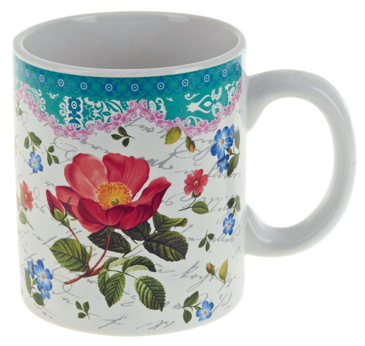 Кружка ENS Group Цветочная поэма, 400 мл. 06601190660119Кружка Цветочная поэма выполнена из высококачественной керамики. Снаружи она декорирована ярким рисунком. Кружка сочетает в себе оригинальный дизайн и функциональность. Благодаря такой кружке пить напитки будет еще вкуснее. Упакована в подарочную упаковку, что может послужть отличным подарком родным и близким!