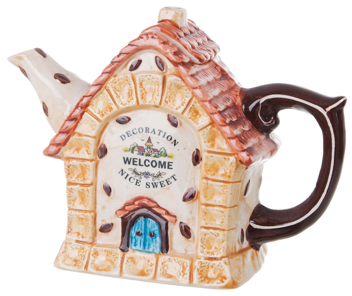 Чайник заварочный ENS Group Дом, милый дом, 900 мл. 07900360790036Этот великолепный чайник станет настоящим украшением любого стола. Послужит отличный подарком! Объем чайника 900 мл, упакован в подарочную упаковку.