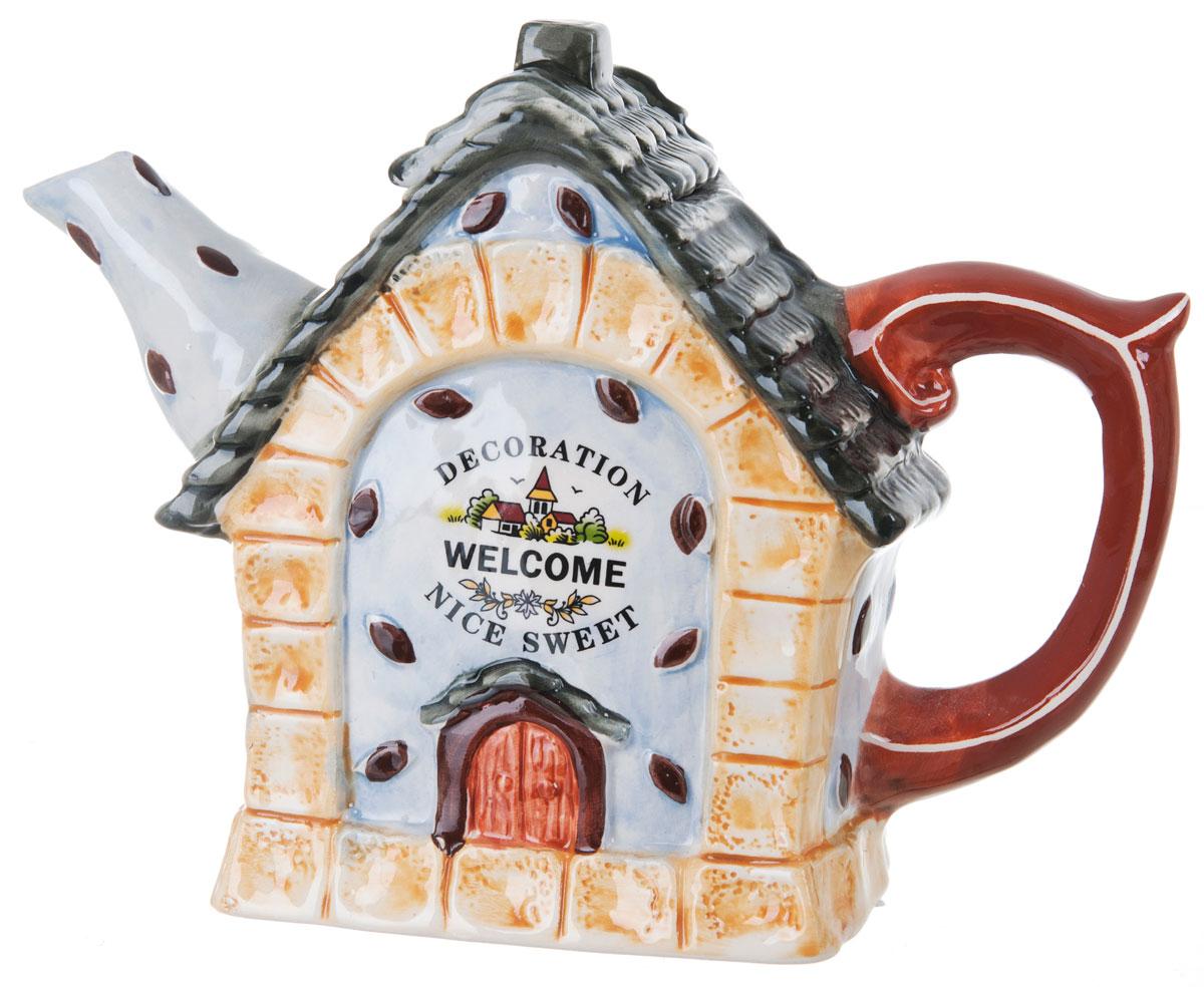 Чайник заварочный ENS Group Дом, милый дом, 1,3 л0790037Этот великолепный чайник, выполненный из керамики, станет настоящим украшением любого стола. Послужит отличным подарком. Можно мыть в посудомоечной машине.