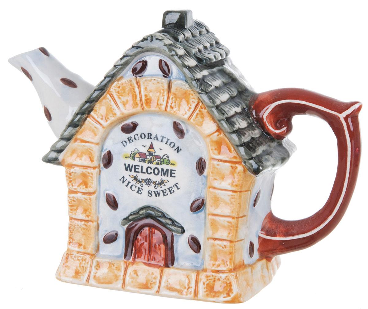 Чайник заварочный ENS Group Дом, милый дом, 700 мл0790038Этот великолепный чайник, выполненный из керамики, станет настоящим украшением любого стола. Послужит отличным подарком. Можно мыть в посудомоечной машине.