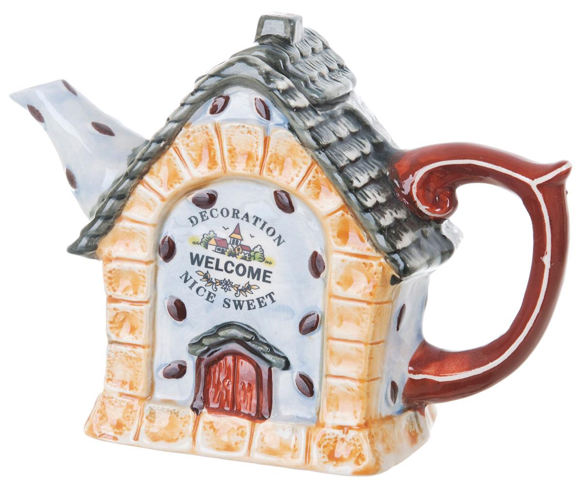 Чайник заварочный ENS Group Дом, милый дом, 450 мл0790039Этот великолепный чайник, выполненный из керамики, станет настоящим украшением любого стола. Послужит отличным подарком. Можно мыть в посудомоечной машине.
