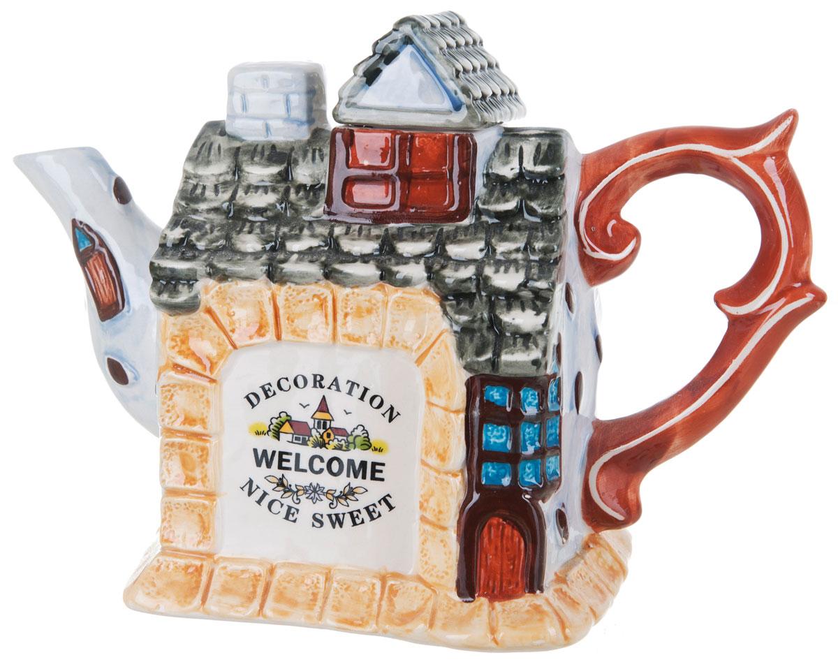 Чайник заварочный ENS Group Дом, милый дом, 1,1 л0790040Этот великолепный чайник, выполненный из керамики, станет настоящим украшением любого стола. Послужит отличный подарком! Можно мыть в посудомоечной машине.