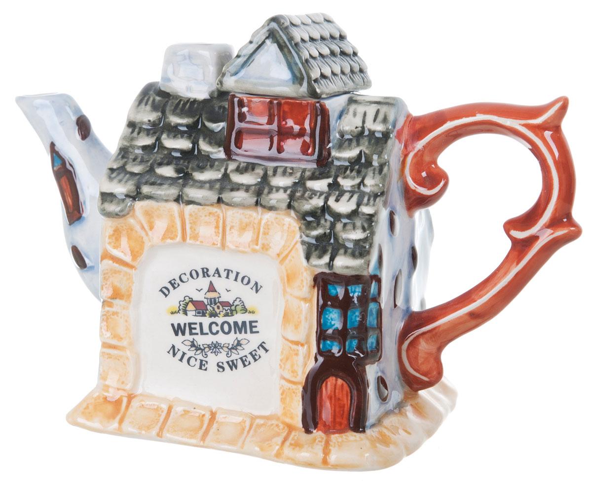 Чайник заварочный ENS Group Дом, милый дом, 450 мл0790042Этот великолепный чайник, выполненный из керамики, станет настоящим украшением любого стола. Послужит отличным подарком. Можно мыть в посудомоечной машине.