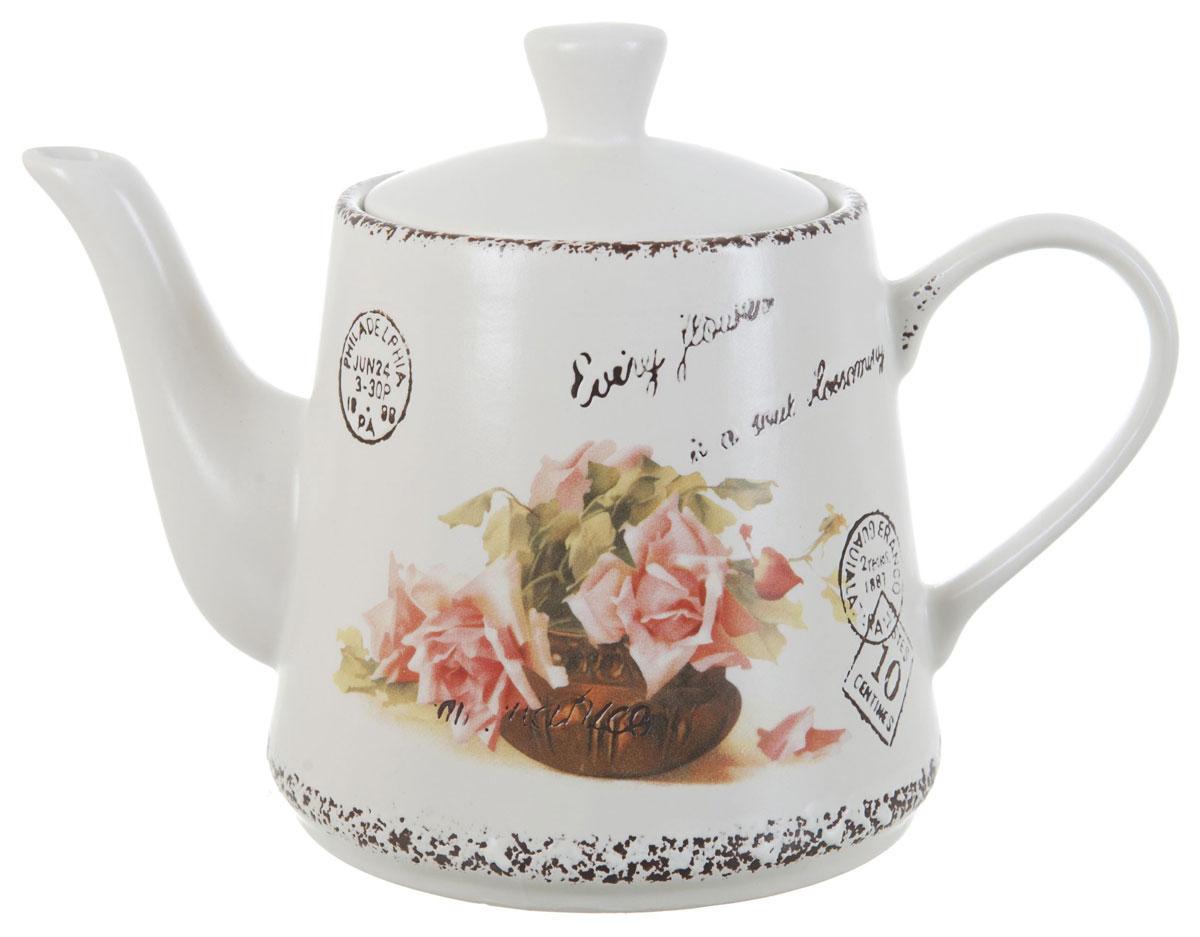 Чайник заварочный ENS Group Чайная роза, 1 л1750147Заварочный чайник Чайная роза, изготовленный из высококачественной керамики, прекрасно впишется в интерьер вашей кухни и станет достойным дополнением к кухонному инвентарю. Изделие снабжено эргономичной крышкой и удобной ручкой. Такой чайник не только украсит ваш кухонный стол и подчеркнет прекрасный вкус хозяйки, но и станет отличным подарком. Можно мыть в посудомоечной машине.