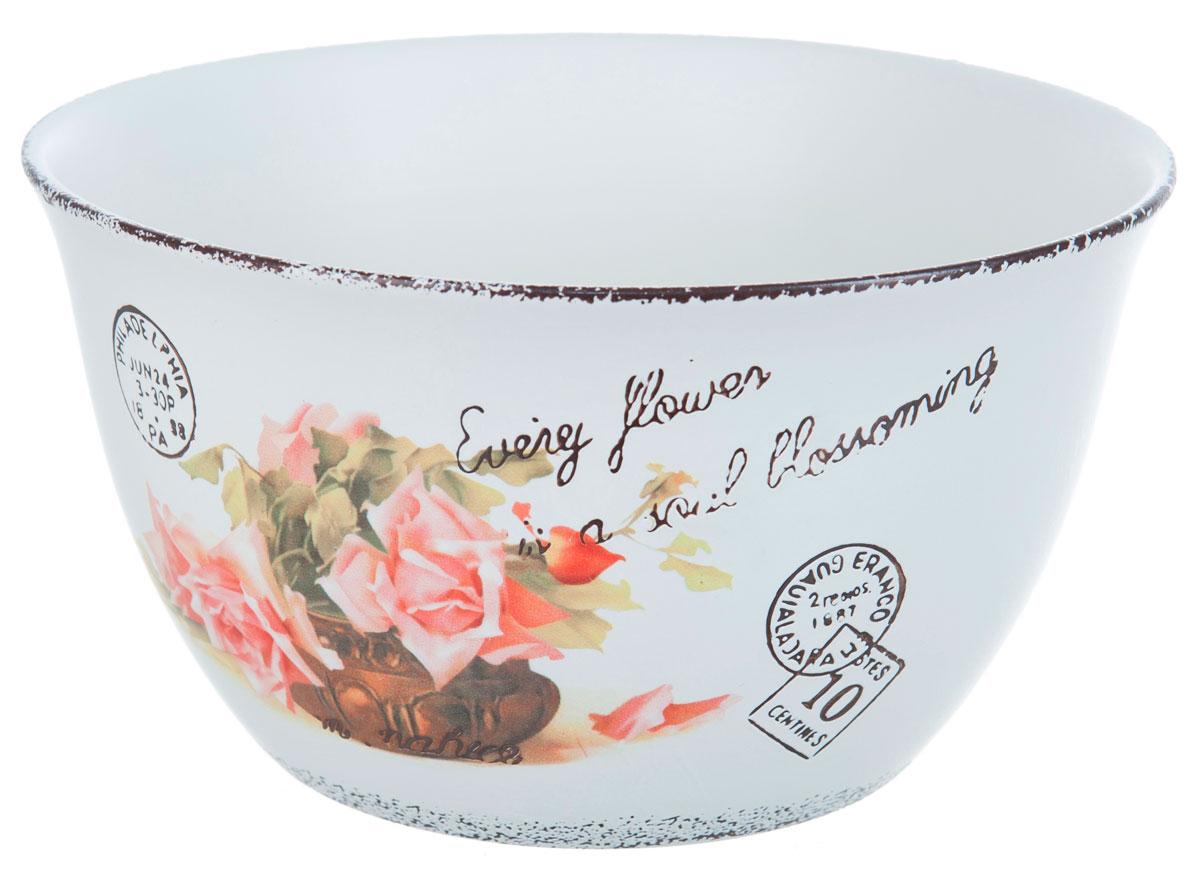 Салатник ENS Group Чайная роза, 3000 мл. 17501651750165Салатник Чайная роза изготовлен из керамики. Салатник прекрасно подходит для сервировки салатов, фруктов, ягод и других продуктов. Яркий дизайн стильно украсит стол. Идеальный вариант для ежедневного использования.