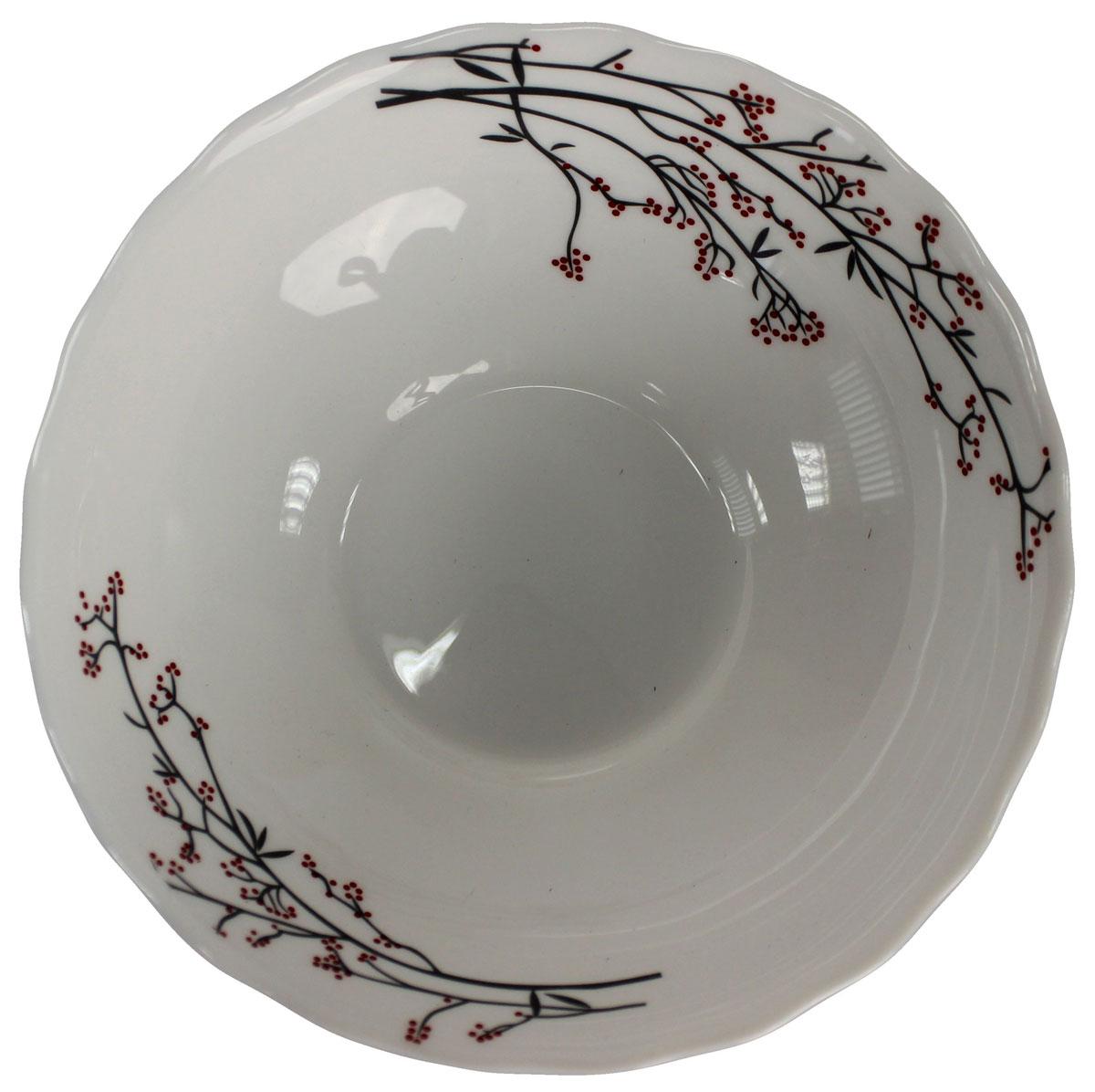Салатник Марисса, 600 мл. 818935818935Салатник Марисса 17 см, материал опаловое стекло. Удобный и вместительный салатник, подойдет как для сервировки салатов, так и в качестве тарелки для перых блюд.