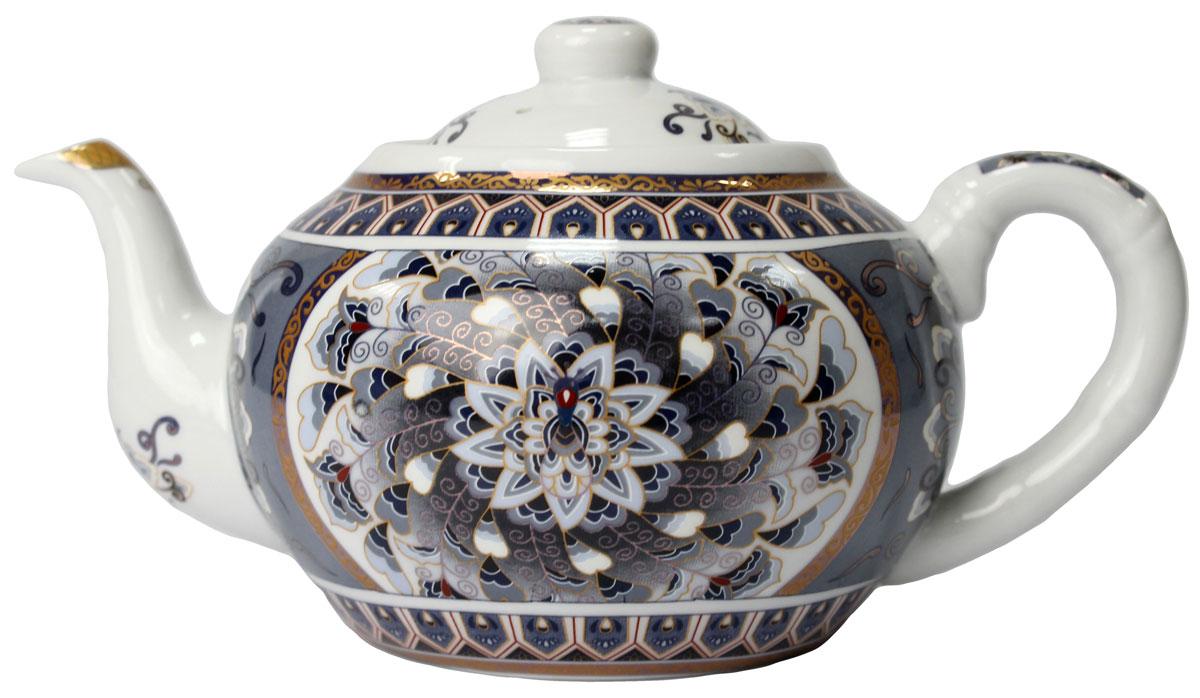 Чайник Узоры, 1000 мл. 821380821380Чайник Узоры 1 л. станет незаменимым атрибутом чаепития и послужит не только приятным подарком, но и практичным сувениром. Упакован в красивую подарочную коробку.