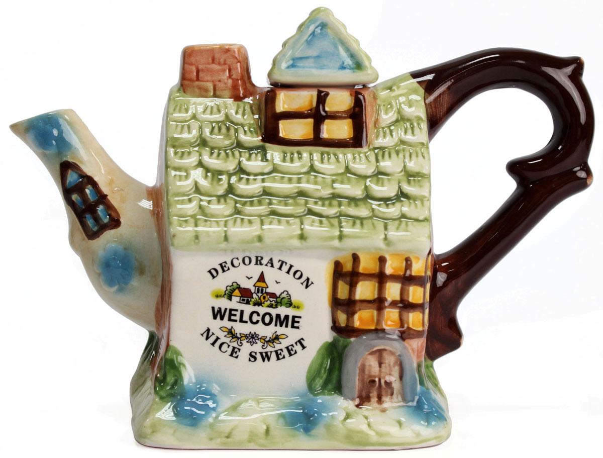 Чайник заварочный Домик, 300 мл. 824389824389Этот великолепный чайник станет настоящим украшением любого стола. Послужит отличный подарком! Объем чайника 300 мл