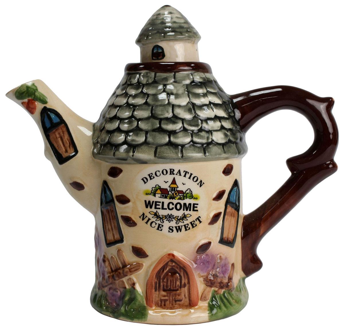 Чайник заварочный Домик, 600 мл. 824393824393Этот великолепный чайник станет настоящим украшением любого стола. Послужит отличный подарком! Объем чайника 600 мл