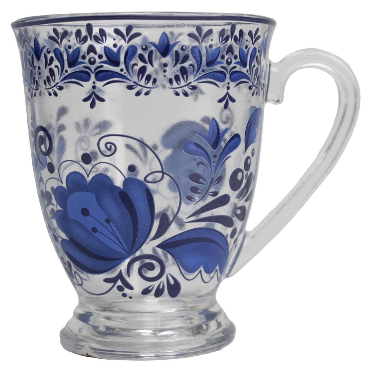 Кружка Vetta Греческие узоры, 360 мл. 879032879032Кружка Vetta Гжельские узоры 360 мл. Изготовленная из стекла и оформленная красивым рисунком, станет незаменимым аксессуаром на вашей кухне.