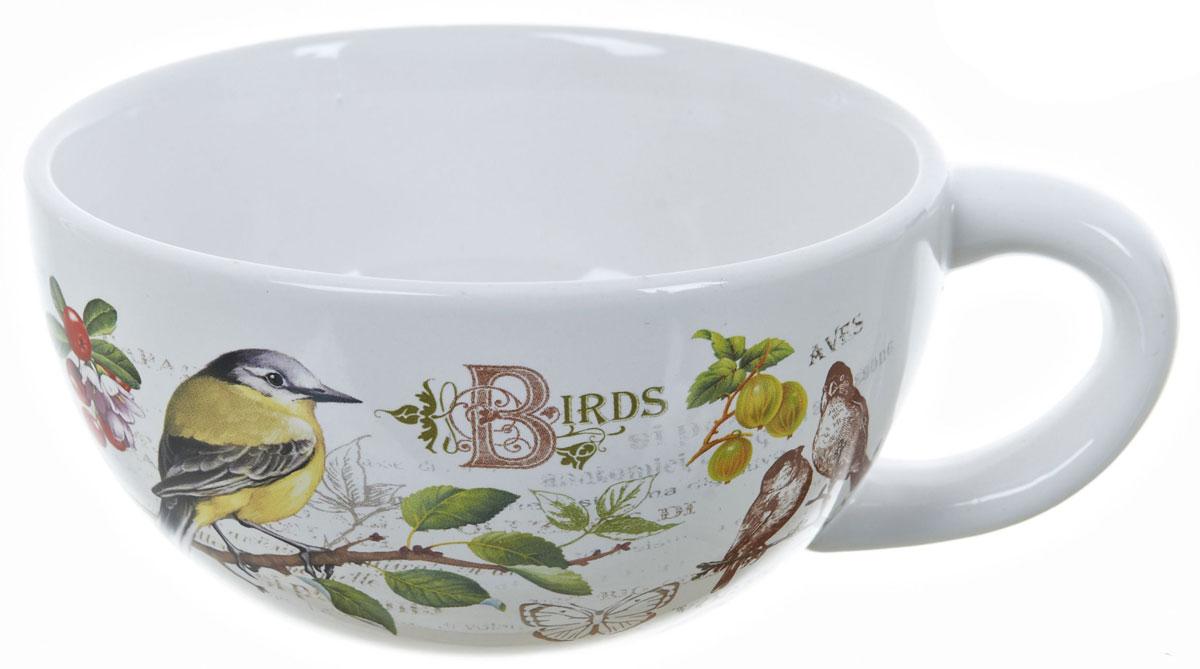 Кружка суповая ENS Group Birds, 500 мл, 2 предмета. L2430744L2430744Кружка суповая Birds, изготовлена из керамики с изящным рисунком, подойдет для красивой сервировки первых блюд.