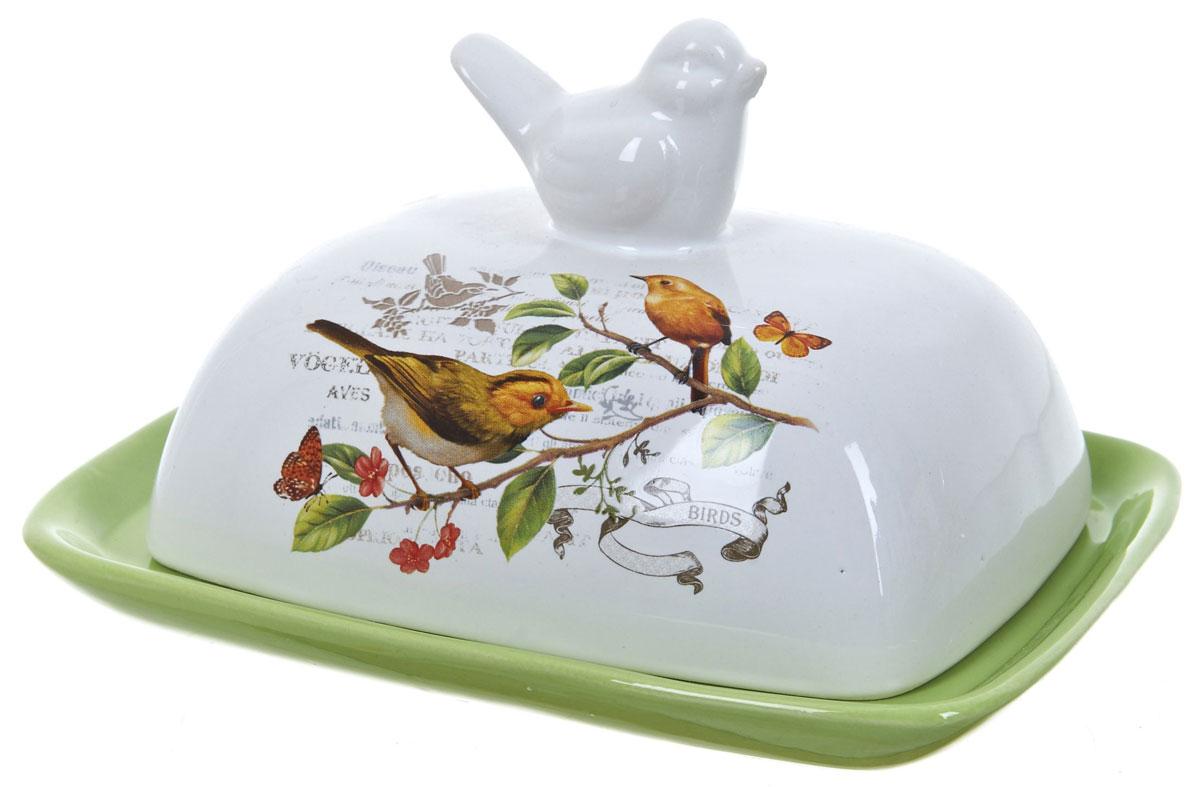 Масленка ENS Group Birds. L2430752L2430752Масленка Birds, изготовленная из керамики, предназначена для красивой сервировки и хранения масла. Она состоит из крышки с удобной ручкой и подноса. Масло в ней долго остается свежим, а при хранении в холодильнике не впитывает посторонние запахи. Гладкая поверхность обеспечивает легкую чистку. Можно мыть в посудомоечной машине.