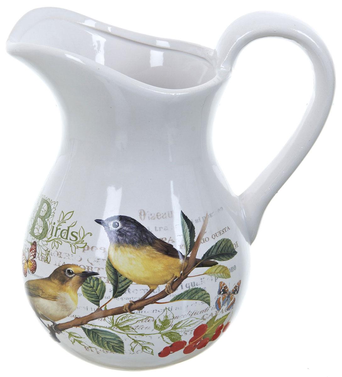 Кувшин ENS Group Birds, 1 лL2430753Кувшин Birds изготовлен из высококачественной керамики с изящным рисунком. Кувшин оснащен удобной ручкой. Прекрасно подходит для подачи воды, сока, компота и других напитков. Изящный кувшин красиво оформит стол и порадует вас элегантным дизайном и простотой ухода.
