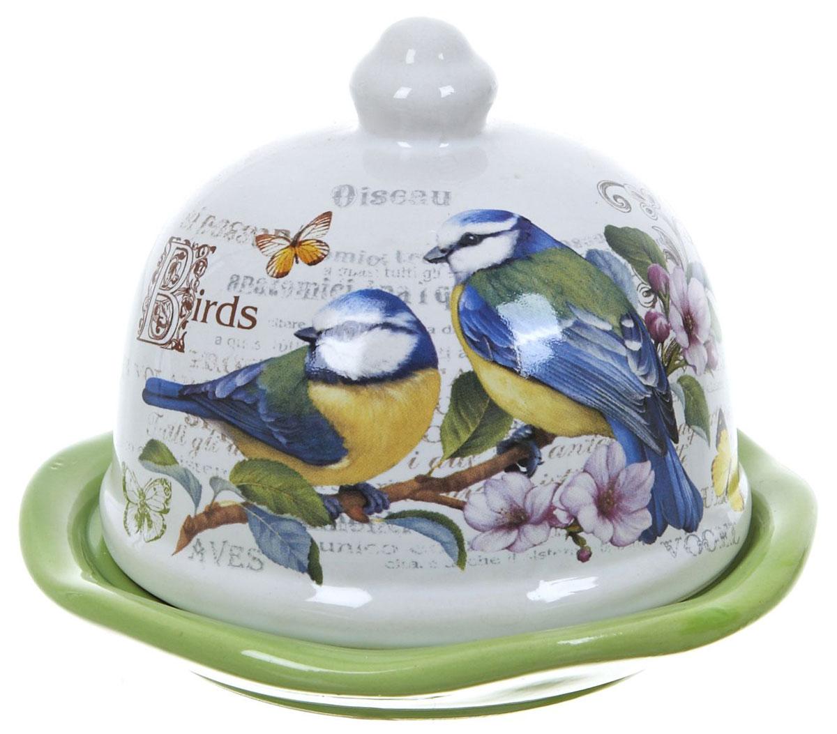 Лимонница ENS Group Birds. L2430767L2430767Лимонница Birds выполнена из высококачественной керамики и состоит из блюдца и крышки. Изделие украшено оригинальным узором. Лимонница Birds доставит истинное удовольствие ценителям прекрасного и поможет сохранить свежесть лимона на длительный срок. Яркий дизайн, несомненно, придется вам по вкусу. Не рекомендуется мыть в посудомоечной машине.