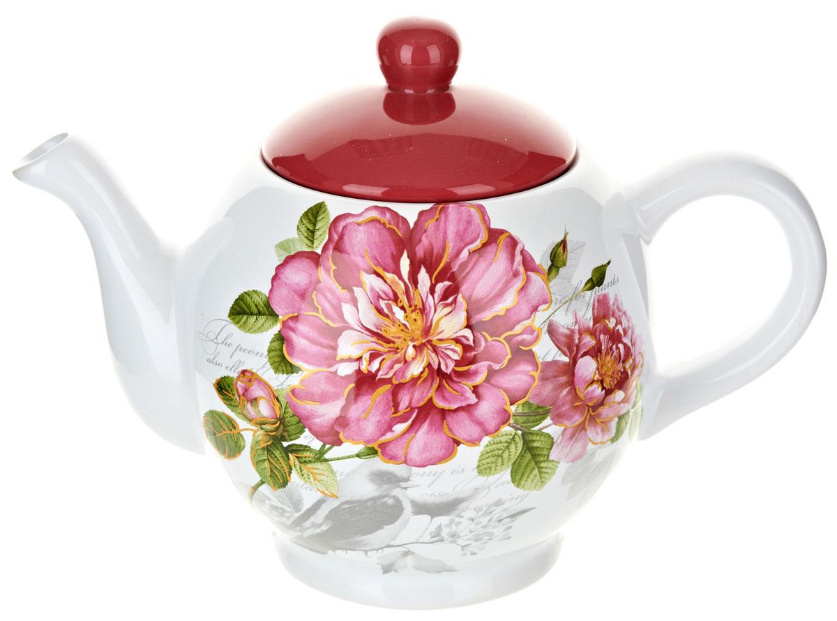 Чайник ENS Group Райский сад, 950 мл. L2520373L2520373Заварочный чайник Райский сад, изготовленный из высококачественной керамики, прекрасно впишется в интерьер вашей кухни и станет достойным дополнением к кухонному инвентарю. Изделие снабжено эргономичной крышкой и удобной ручкой. Такой чайник не только украсит ваш кухонный стол и подчеркнет прекрасный вкус хозяйки, но и станет отличным подарком