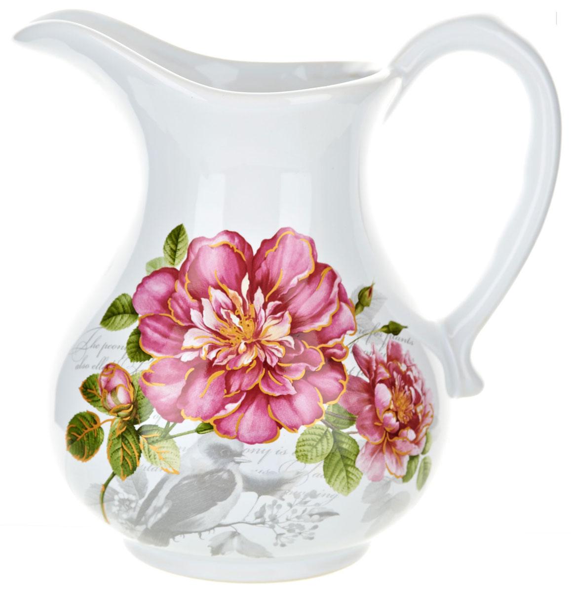 Кувшин ENS Group Райский сад, 1,2 лL2520384Кувшин Райский сад изготовлен из высококачественной керамики с изящным рисунком. Кувшин оснащен удобной ручкой. Прекрасно подходит для подачи воды, сока, компота и других напитков. Изящный кувшин красиво оформит стол и порадует вас элегантным дизайном и простотой ухода.