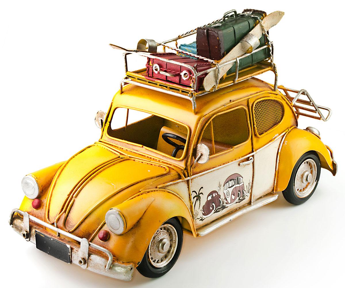 Модель Ретро Platinum Автомобиль, цвет: желтый, с фоторамкой и копилкой. 1404E-42411404E-4241