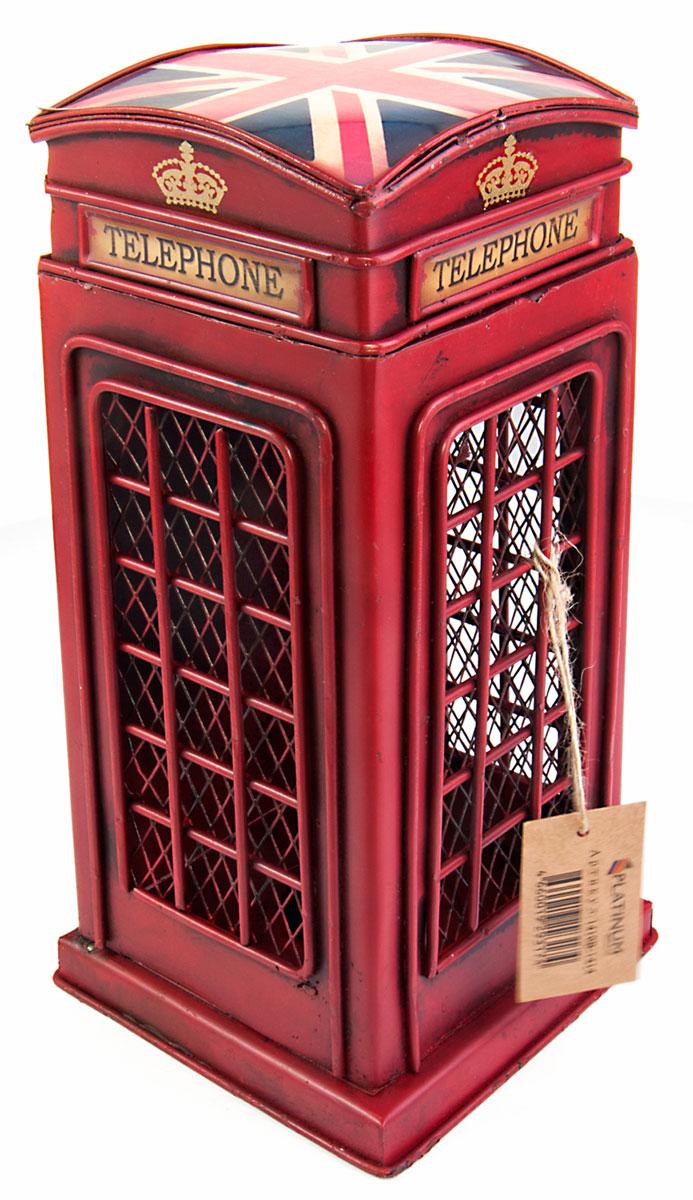 Копилка Platinum Телефонная будка1410B-1414Декоративная копилка Platinum Телефонная будка изготовлена из металла. Яркий оригинальный дизайн сделает такую копилку прекрасным подарком. Она послужит не только по своему прямому назначению, но и красиво дополнит интерьер комнаты.