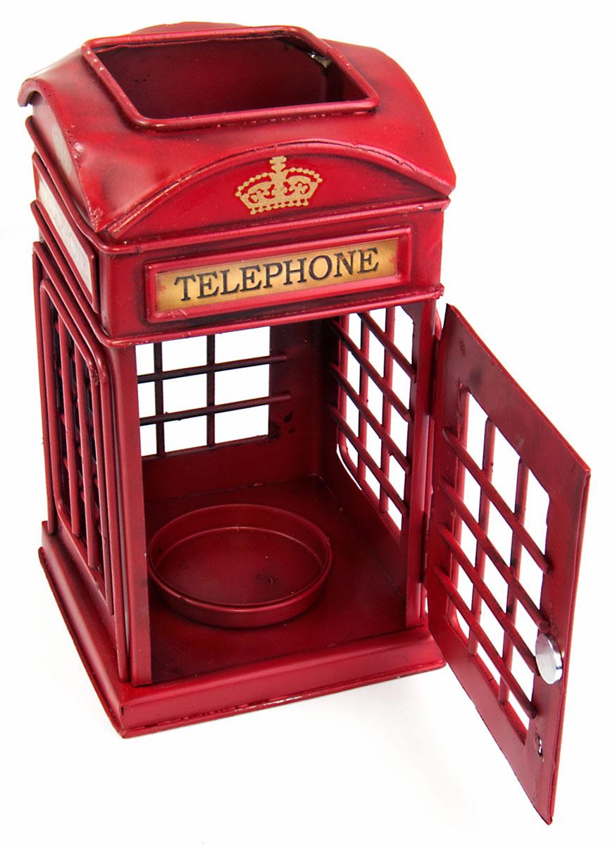 Подсвечник Platinum Телефонная будка, цвет: красный. 1410B-14181410B-1418