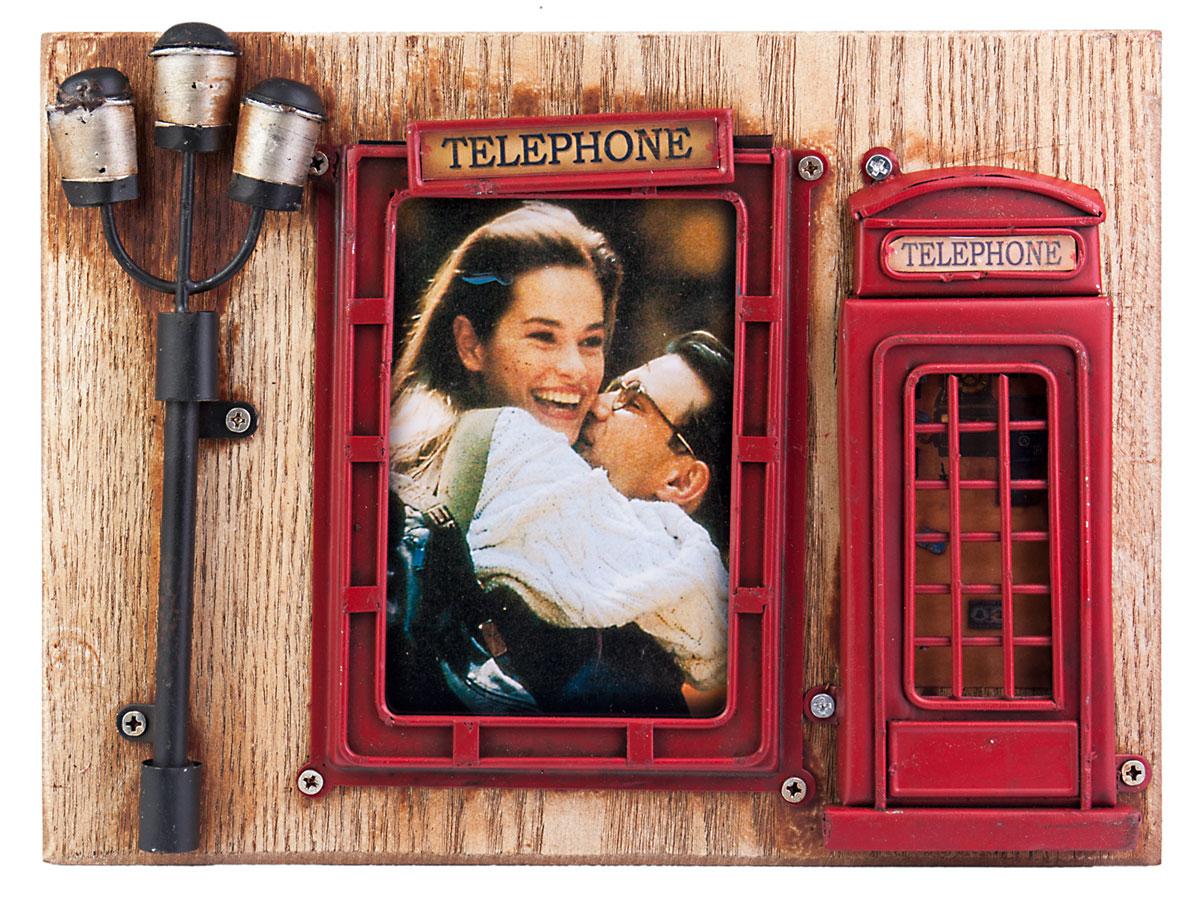 Фоторамка Platinum Телефонная будка, цвет: красный. 1510F-4071510F-407